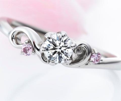 オープニング 婚約指輪 【ミルク&ストロベリー】
