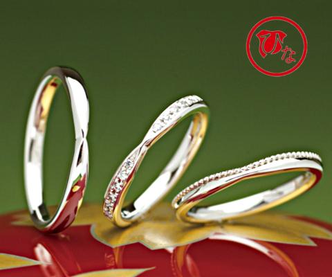 ちょうちょ 結婚指輪 【ひな】