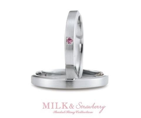 プールズ 結婚指輪 【ミルク&ストロベリー】