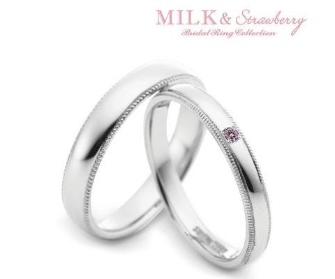 エチュード  結婚指輪 【ミルク&ストロベリー】