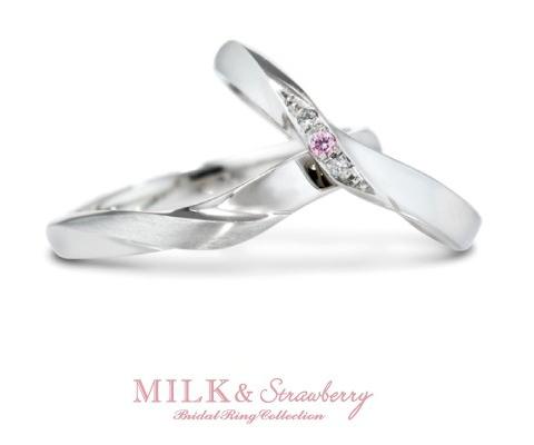 シャルメ 結婚指輪 【ミルク&ストロベリー】