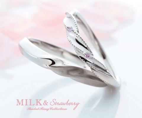 アン トレッセ 結婚指輪 【ミルク&ストロベリー】