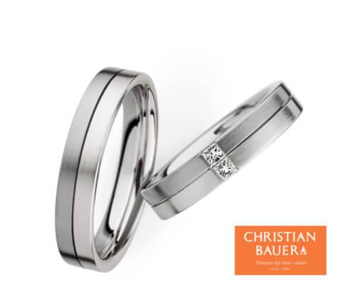 CHRISTIAN BAUER 273481&243478 結婚指輪