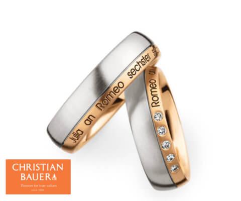 CHRISTIAN BAUER 73654&244576 結婚指輪