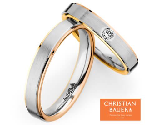 CHRISTIAN BAUER 273638&241282 結婚指輪
