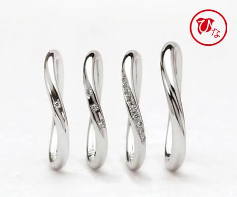 ひな 十二単(ウエーブライン) 結婚指輪