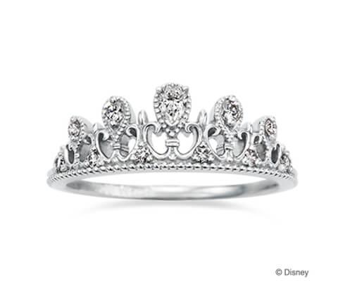 プリンセスティアラ・ペアシェイプド 婚約指輪【ケイウノ】