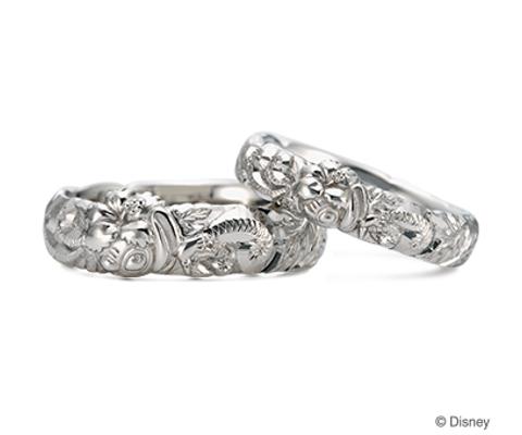 リロ&スティッチ 結婚指輪 【ケイウノ】