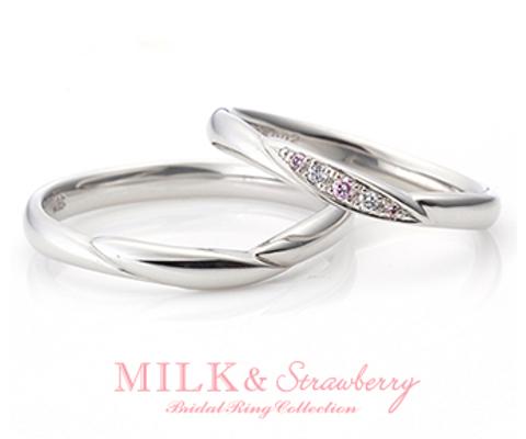 オーバーチュア  結婚指輪 【ミルク&ストロベリー】