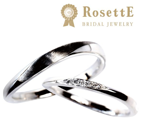 月明かり 結婚指輪 【ロゼット】