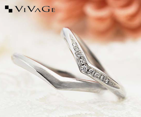 スピラル 結婚指輪 【ビバージュ】