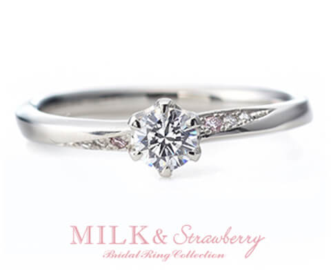 MILK & Strawberry アンシャンテ  婚約指輪
